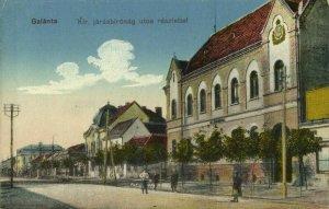slovakia, GALANTA GALLANDAU, Kir. Járásbiróság utca Részlettel (1910s) Postcard