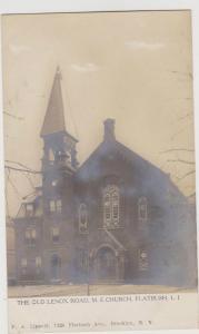 FLATBUSH OLD LENOX ROAD EPISCOPAL CHURCH REAL PHOTO PC BY LIPPOLD, BROOKLYN NY