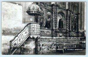 RPPC  ACOLMAN, MEXICO  Church Interior PULPITO y RETABLO BARROCOS  Postcard