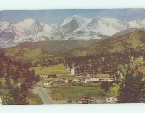 Pre-1980 AERIAL VIEW OF TOWN Estes Park - Near Denver Colorado CO AD3266