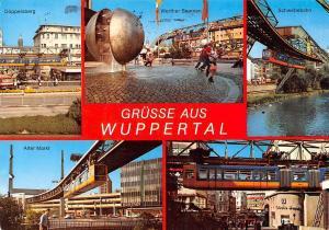 Gruesse aus Wuppertal, Doeppersberg Werther Brunnen Schwebebahn Alter Markt Bank