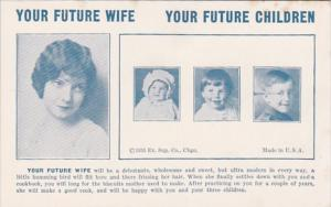 Humour Vintage Arcade Card Your Future Wife Will Be A Debutante