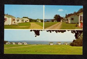 ME Bay Shore Motor Court Cabins between Searsport & Belfast MAINE Postcard