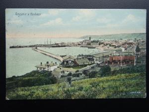 Cornwall PENZANCE Panoramic View HARBOUR & STATION c1909 Postcard by J.W.S. 252