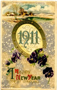 Greeting - New Year. 1911   (Winsch)