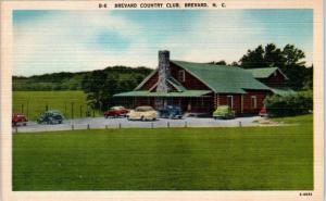 BREVARD, North Carolina  NC   BREVARD COUNTRY CLUB  ca 1940s Linen   Postcard