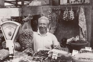 Portugal Greengrocer With Weighing Scales RPC Postcard