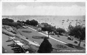 uk2847  cliff gardens leigh on sea real photo uk