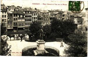 CPA  Verdun - Place Chevert et Vue sur la Meuse     (178262)