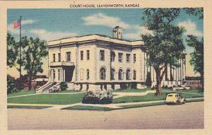 Exterior, Court House, Leavenworth, Kansas, 30-40s