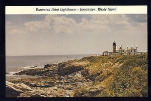 Jamestown, Rhode Island/RI Postcard, Beavertail Point Lighthouse/Light