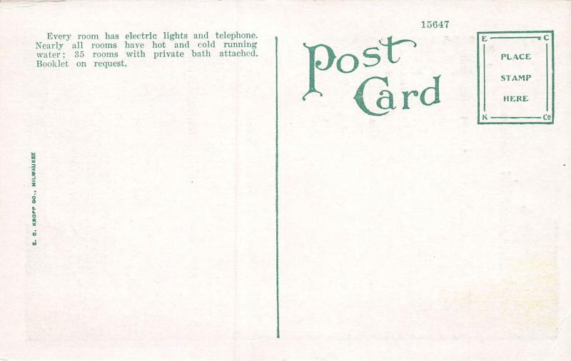 Hotel Kentucky, Atlantic City, New Jersey, Early Postcard, Unused