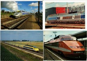FRANCE TGV CHEMIN DE FER TRAIN RAILWAY 67 MODERN CP with SOME DUPLICATIONS !