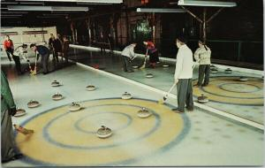 Curling Seigniory Club Quebec QC ON Ontario Vintage Postcard D78