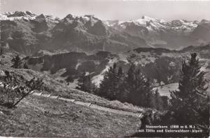 Switzerland, Suisse, Stanserhorn mit Titlis und Unterwaldner-Alpen, unused RPPC
