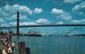 The Ambassador Bridge Detroit Michigan