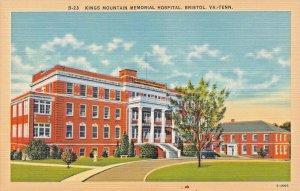 BRISTOL VA TN~KINGS MOUNTAIN MEMORIALHOSPITAL 1940s POSTCARD
