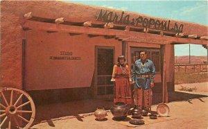 Maria & Popovi DA Postcard San Ildefonso New Mexico #7629B Petley 21-2639