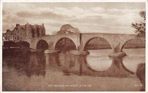 Scotland Stirling, Old Bridge of Forth, Pont Photo Brown