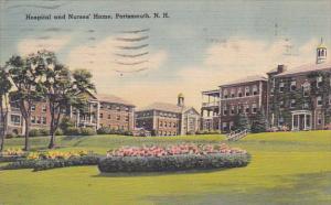 Hospital and Nurses' Home, PORTSMOUNTH, New Hampshire, PU-1945