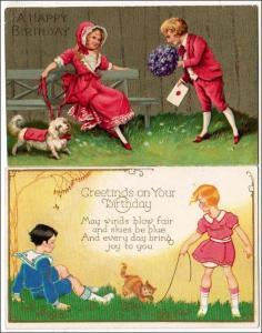 2 - Birthday Cards with Children
