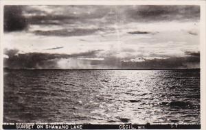 RP, Sunset On Shawand Lake, CECIL, Wisconsin, PU-1953