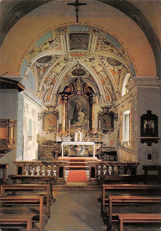 Switzerland Bonco Sopra Ascona Chiesa Kirche S. Martino Church Interior