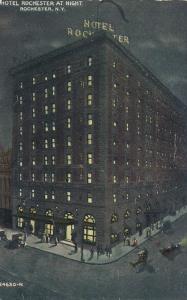 Hotel Rochester at Night - Rochester, New York - DB