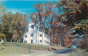 Lenox in the Berkshires Massachusetts~Church on the Hill~Clock Tower~1952 PC