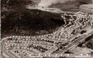Marathon Ontario Aerial View of Town & Mill UNUSED Real Photo Postcard F47