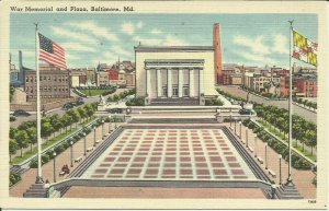 War Memorial And Plaza, Baltimore, MD.