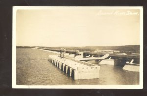 RPPC NEAR VINITA OKLAHOMA GRAND RIVER DAME GROVE OKLA. REAL PHOTO POSTCARD