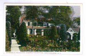 Chauncey Olcott Residence, Saratoga Springs, New York unused linen PPC