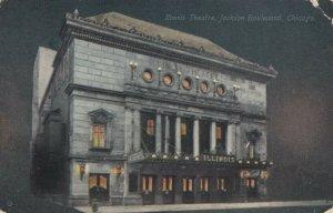 CHICAGO, Illinois, 1913 ; Illinois Theatre at night
