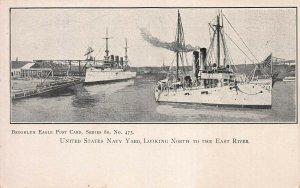 U.S. Navy Yard, Looking North, Brooklyn, N.Y.C., Early Postcard, Unused