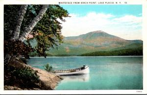 New York Adirondacks Lake Placid Whiteface Mountain From Birch Point 1931 Cur...