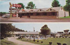 Exterior Entrance and Swimming Pool, Webb's Motel and Restaurant, Dillon, Sou...