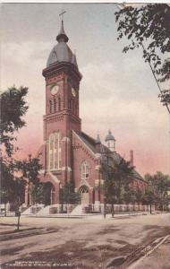 Wisconsin Stevens Point St Peter's Catholic Church Handcolored Albertype
