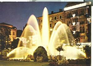 Suisse, Lugano, Fontana di Notte, Fountain at night Postcard