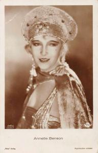Annette Benson Silent Film Actress Real Photo Antique Postcard J66598