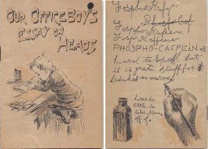 Victorian Trade Card Booklet 1892 10 pagesApprox size inches = 3.5 x 5.25 Pre...