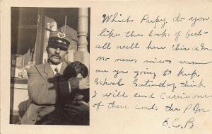 West Danville VT R.F.D. #1 Mail Carrier Dog 1909 Postcard