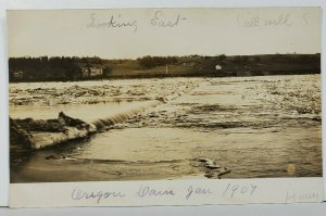 RPPC Dam & Selz Shoes Advertising on Barn Oregon 1907 Real Photo Postcard O6