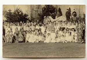 Real Photo Town Pageant Costumes, R.N.C. 1920, Tusket, Nova Scotia