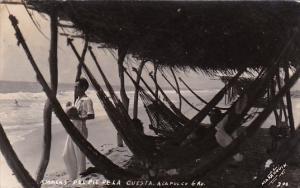 Mexico Acapulco Beach Scene 1942 Real Photo