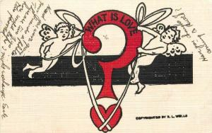 Arts Crafts C-1910 Cupid Valentine undivided postcard Artist impression 8140