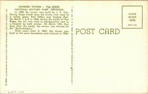 Vtg 1960s Elkhorn Tavern Pea Ridge National Military Park Arkansas AR Postcard