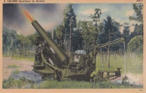 PU-1946; A 240-MM Howitzer In Action