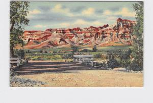 VINTAGE POSTCARD NATIONAL STATE PARK RED CASTLES ON WIND RIVER TWO-GWO-TEE PASS