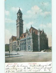 Pre-1907 POST OFFICE Detroit Michigan MI n5844